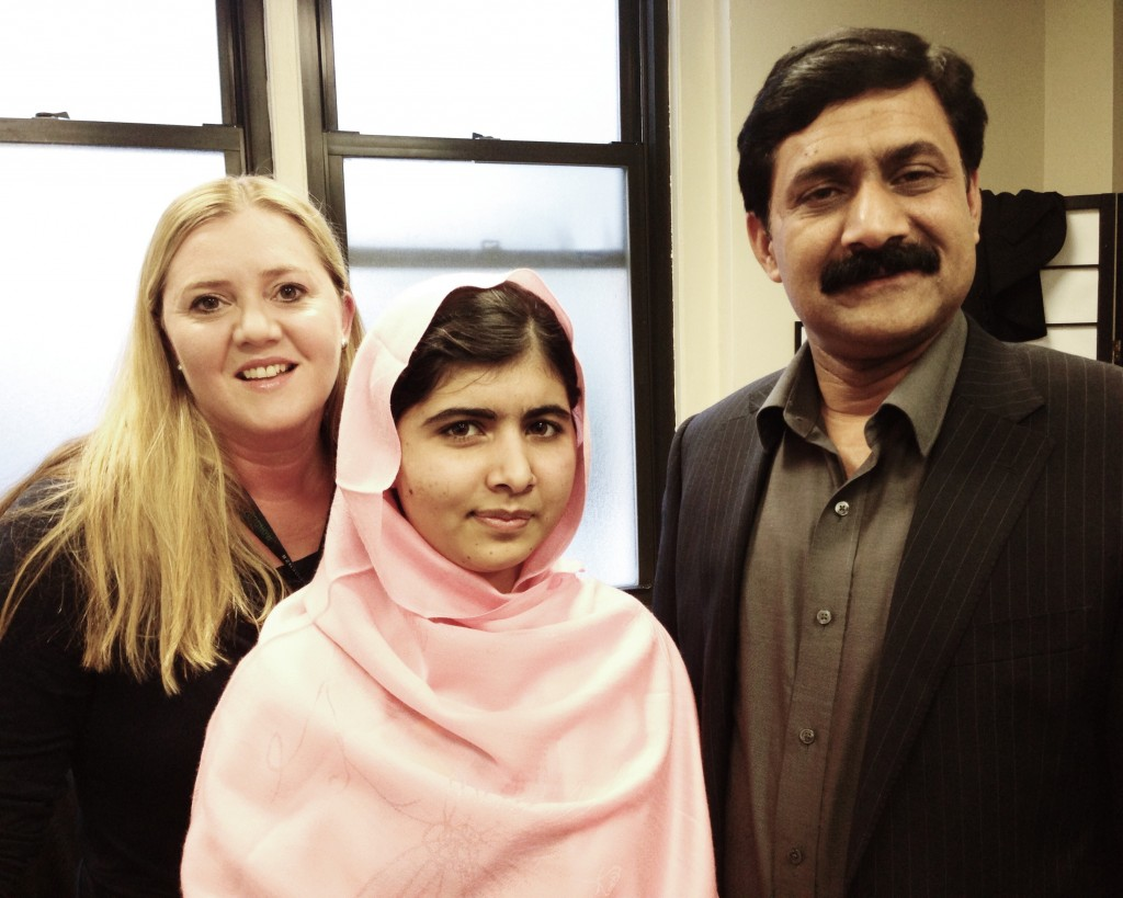 Chrysula Winegar, Malala Yousafzai, Ziauddin Yousafzai